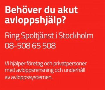 Avloppsspolning i Stockholm